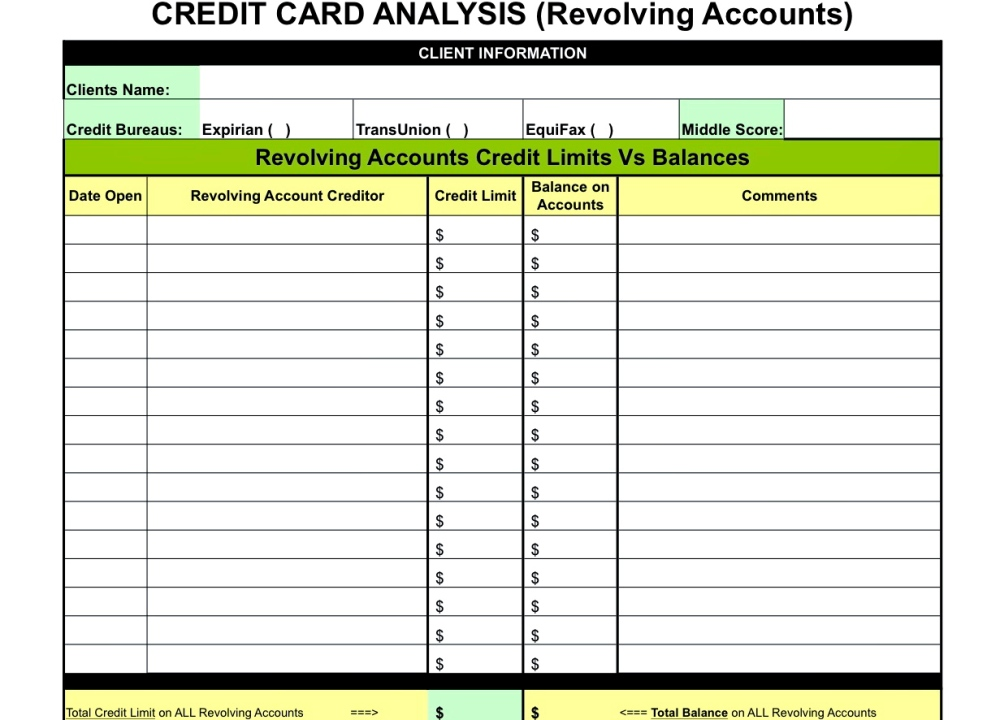 1st Step for Pre-Qualification - Credit Report Analysis (3/3)