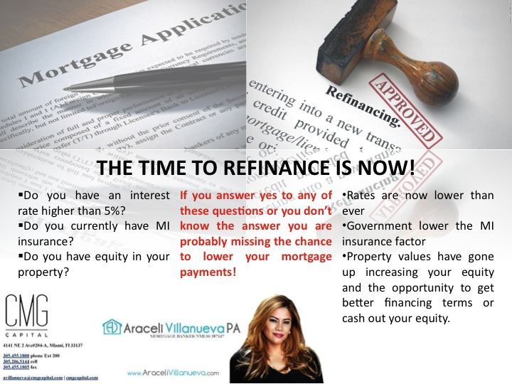 The time to refinance and buy is now!