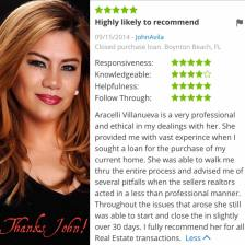 Araceli Zillow Review by John
