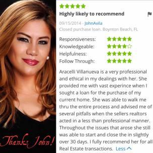 Araceli Zillow Review by John