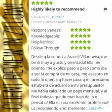 Araceli Zillow Review by Veronica
